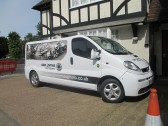 Alex James Photography Van outside the former Woolpack Public House in Church Street - June 17th 2014