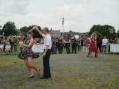 Lindy Hoppers Dance group at the Armed Forces gala event on Regatta Meadow - 5th July 2014
