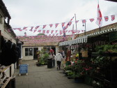 Cross Keys Mews decorated for the Armed Forces Gala Day - 5th July 2014