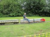 A miniature train ride on Regatta meadow - 5th July 2014
