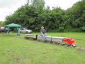 A miniature train ride on Regatta meadow - 5th July 2014