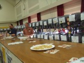 A selection of beers in the St Neots Annual Beer Festival in the Priory Centre in March 2014