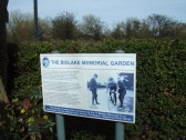 The Bidlake Memorial Garden sign at Beeston on the Great North Road, now just off the A1 - March 2012