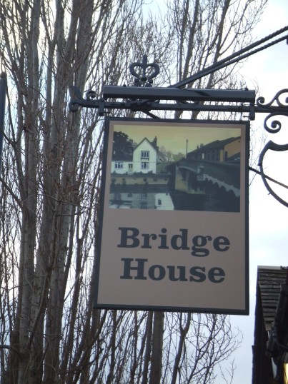 Bridge House sign in March 2013
