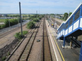 View south from the bridge at St Neots Railway Station - June 22nd 2014