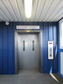 One of the new lifts at St Neots Railway Station Bridge - June 22nd 2014