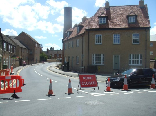 Road closure of St Marys Street in Eynesbury - 10th June 2014