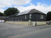 Former Soloprint building in Eaton Socon - plastered  and now named 'i-dash' in July 2014