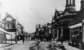 Corn Exchange on the corner of St Neots High Street and South Street pre 1929