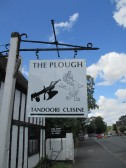 The Plough, new sign on the formerly named Akbar Indian Restaurant in Eaton Socon - 3rd August 2014