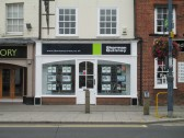 Sharman Quinney Estate Agents in the Market Square, with it's new frontage - 16th August 2014