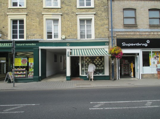 Johnsons Jewellers is being repainted - 9th September 2014