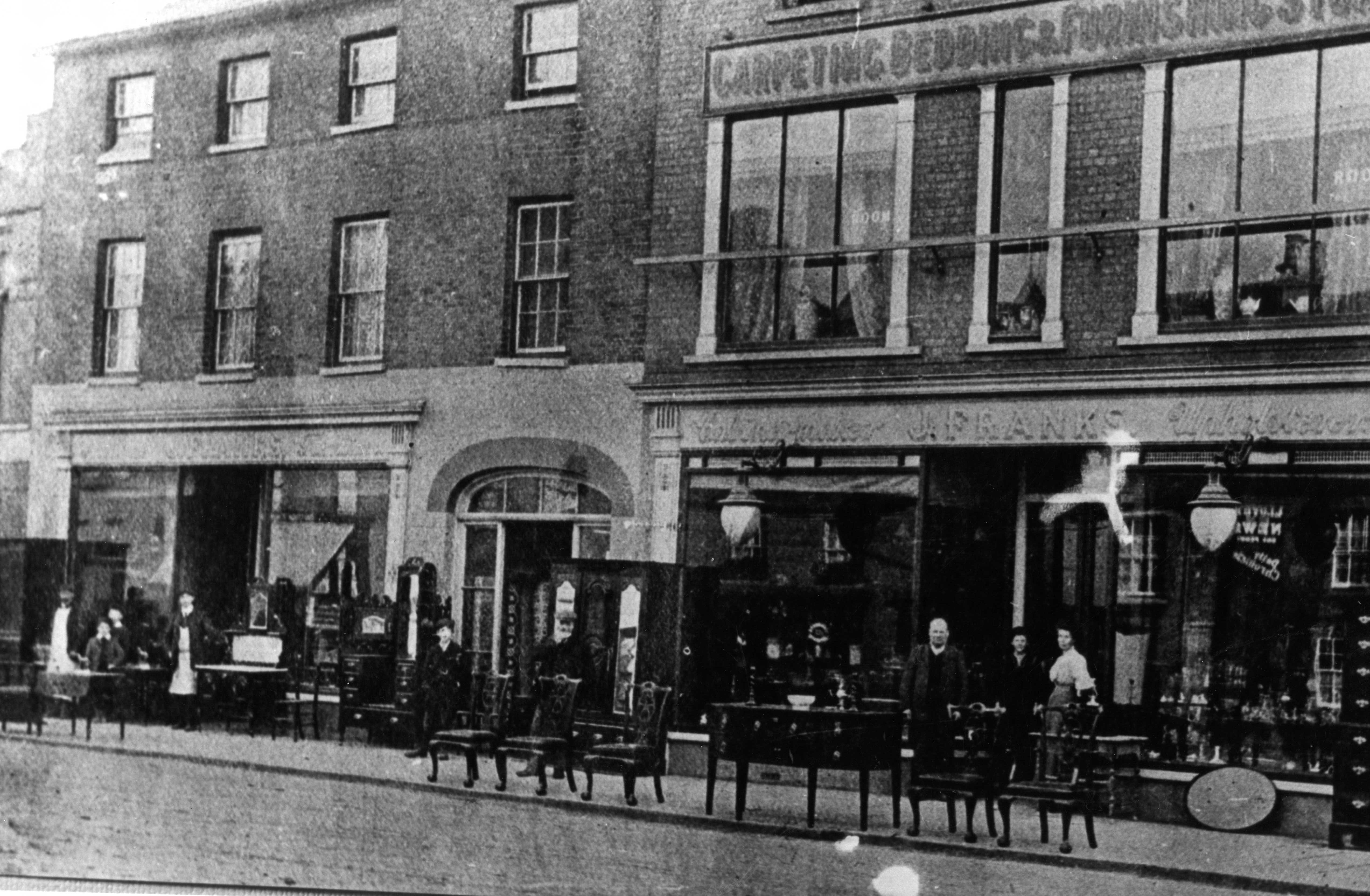 Franks Furniture Shop St Neots High Street possibly 1900 High