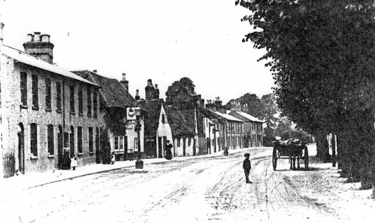Huntingdon Street, St Neots looking north near The Globe - 1900 possibly