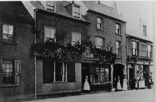 Plum's Cafe and cake shop in St Neots High Street - dated 1920s possibly