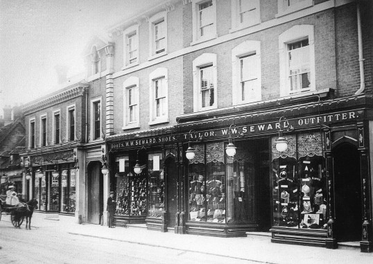 W.W. Seward, Outfitters and shoe shop in St Neots High Street
