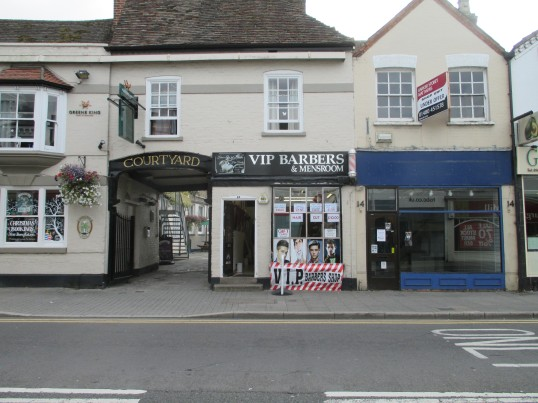 VIP Barbers & Mensroom in the former MSS Barbers in St Neots High Street - 9th September 2014