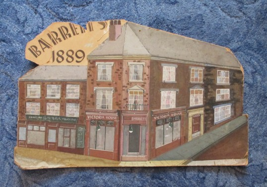 Barrett's shop, St Neots, in 1889