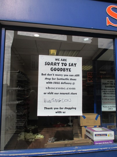 Shoe Zone 27th September 2014 - now closed