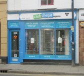 Cash & Cheque Express about to open in the former Cash Brokers, St Neots High Street, 21st October 2014