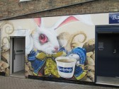 Barretts mural 'Alice in Wonderland' has changed one week later - now complete - 11th Nov 2014