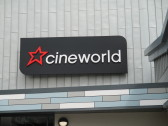 Cineworld Sign at the front of St Neots cinema, as seen from Huntingdon Street - 26th June 2014