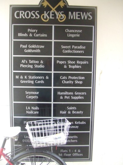 Cross Keys Mews List of Shops - 1st April 2014