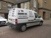 Crown Inn, Little Staughton White Van - 11th November 2014