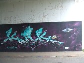 Murals on the Duloe Road Underpass in February 2013