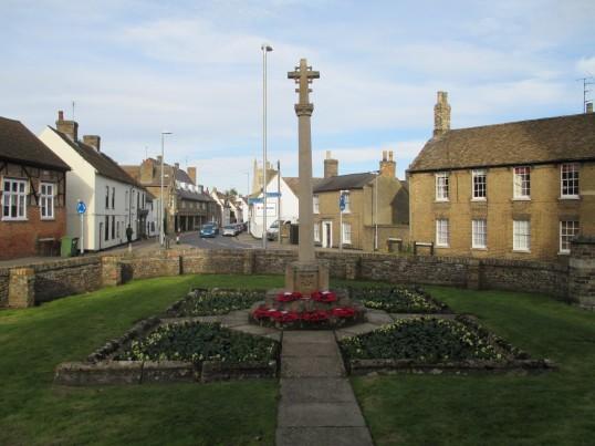 Eynesbury War Memorial on 11th November 2014