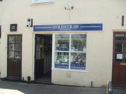 Goldstraw's jewellers in Cross Keys Mews, just off the Market Square - 10th June 2014