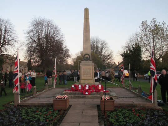 War memorial - Eaton Socon 9th Nov 2014