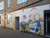 Barrett's 'Alice in Wonderland' mural painted 1st November 2014
