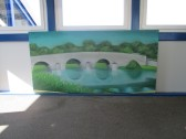 Murals at the Railway Station painted by students from Longsands School - June 22nd 2014