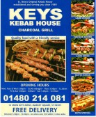 Keys Kebab House Takeaway menu - 18 Cross Keys Mews - date unknown