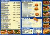 Keys Kebab House Takeaway menu - 18 Cross Keys Mews - date unknown