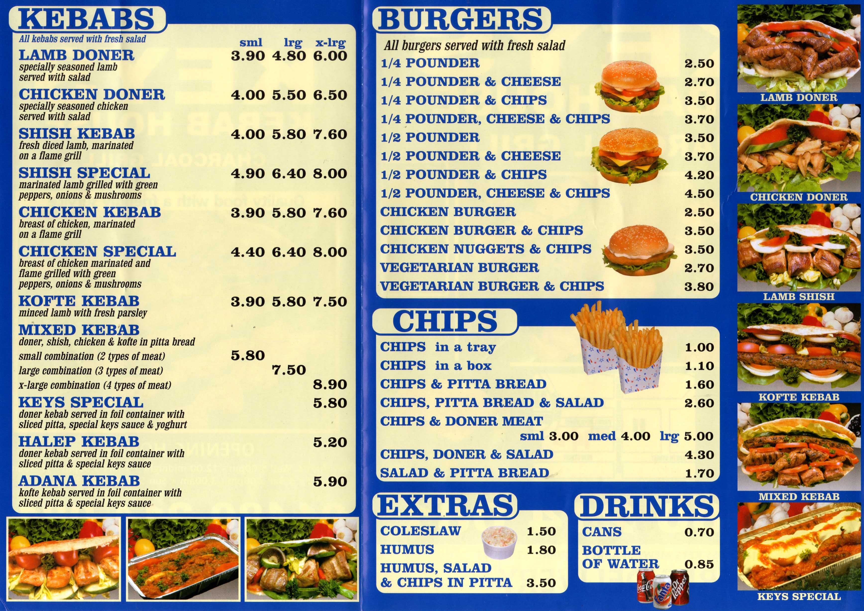 Uk kebab frome menu for Classic kebab house stechford