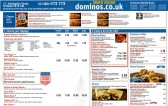 Dominoes Takeaway Pizza Menu, 13 Huntingdon Street, St Neots - December 2013