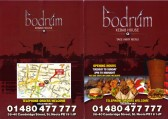 Bodrum Mediterranean Restaurant Takeaway Menu, 38-40 Cambridge Street, St Neots - date unknown