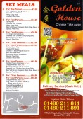 Golden House Takeaway Menu, 9 Park Way, Little Paxton