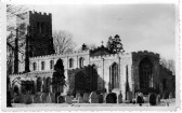 Eaton Socon Church Easter Greetings card with services - 1958