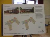 Nelson Road, Eaton Socon, development plans of former factory site - shown at a meeting 15th June 2014