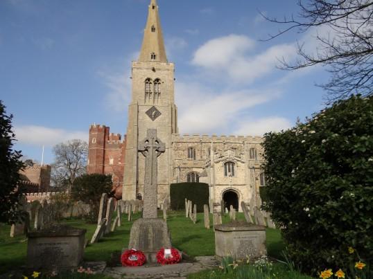 Buckden War Memorial before cleaning (1)