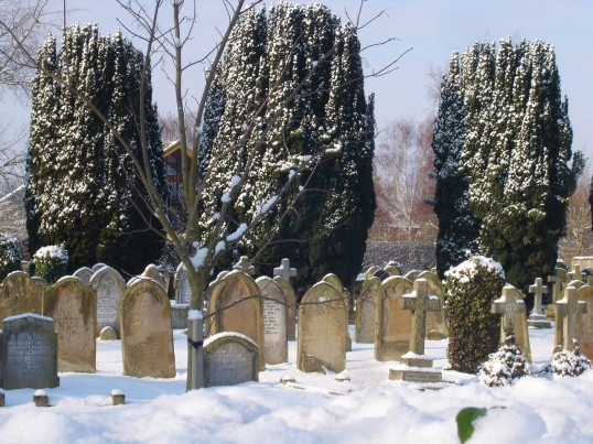 Buckden Cemetery, Lucks Lane, February 2012
