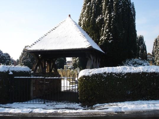 Buckden Cemetery lych gate, Lucks Lane, February 2012