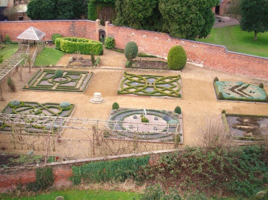 Buckden Towers Palace, Knot Garden, January 2009