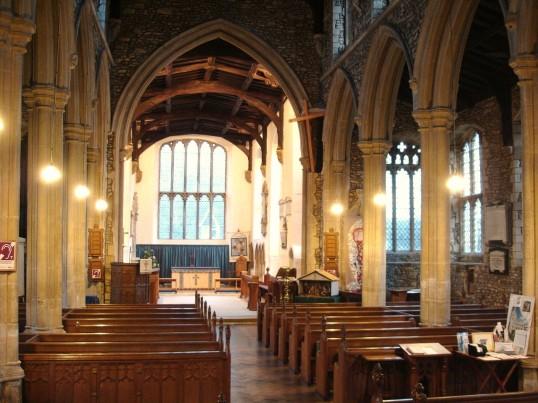 Buckden, St. Mary's church interior, January 2009