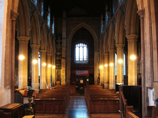 Buckden, St. Mary's church interior from the east (1), January 2009