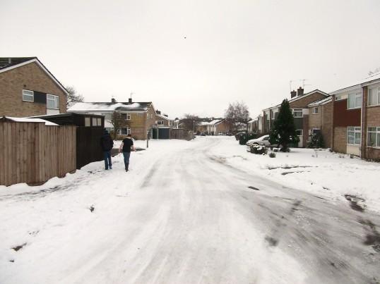 Buckden, Glebe Lane, February 2012