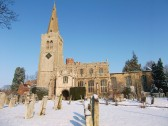 Buckden parish church in snow, February 2012 (1)